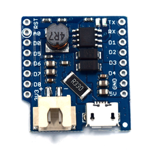 Battery Shield V1.1.0 For WeMos D1 mini single lithium battery charging & boost