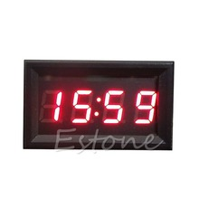 Hot Sale LED Display Digital Clock 12V/24V Dashboard Car Motorcycle Accessory 1PC(China)