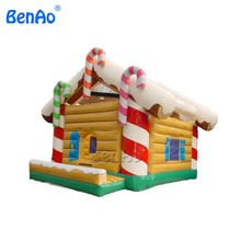 X018 High quality advertising inflatable christmas bouncer Commercial Inflatable Santa Claus and Snowman Christmas House(China)