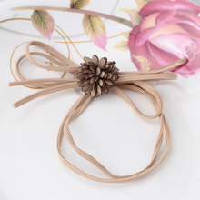 String Bow Flower Hair Rope For Girls Headwear Simple Double String Bow-knot Hair Accessories Elastic Hair Band(China)