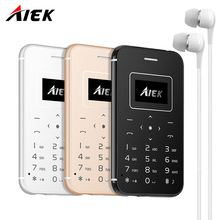 2017 Ultra Thin Card Mobile Phone AIEK/AEKU X8 Low Radiation mini pocket students personality children phone PK SOYES X6 M5 X7