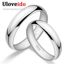 50% off Wedding Couple Rings for Men and Women Lovers' Gifts Costume Jewelry Ring Anel Masculino Jewelery Anillos Uloveido J017(China)