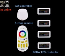 2.4g led controller rf touch remote,mi.light wireless wifi app ios android,rgbw 4 zone led controller for led strip bulb