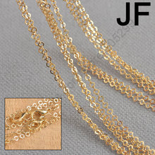PATICO Jewelry Findings Wholesale 20Pcs Rose Gold Plate GP Link Square Necklace Chains Stock Fast Shipping(China)