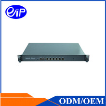 OEM VPN Firewall Router 6 LAN 1U Intel Atom D525 AI alloy steel ROS chassis Rackmount Network Firewall machine Server case
