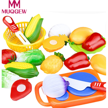 12PC /Set Plastic Kitchen toy Fruit Vegetable Cutting Kids Pretend Play Toy Educational Cook Cosplay kitchen toys(China)