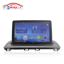 "Bway 9"" Quad core car radio gps navigation for 2014 Mazda3 Axela android 6.0 car DVD video player with Wifi,BT,SWC,DVR(China)"