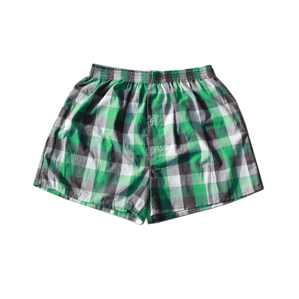 Classic Plaid Men Boxer Shorts Mens Underwear Trunks Cotton Cuecas Underwear boxers for male Woven Homme Arrow Panties 4 packs