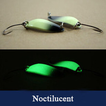 Noctilucent spoon lure 2g,3g,5g,8g trout lure fishing bass bait fishing spoon Japanese lure(China)