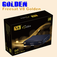 1PC FREESAT V8 Golden DVB-S2 + T2 +C Satellite TV Combo Receiver Support PowerVu Biss Key Cccamd Newcamd S2 T2