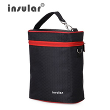 Insular Stroller bag fashion Mummy bag 420D Nylon Baby Thermal Feeding Bottle Bags Cooler Bags(China)