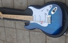 HOT Real photo  stratocaster 6 string blue Electric guitar in stock without hard case Chinese New Year normal delivery.