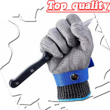 NMSafety Hig quality Safety Cut Proof Protect Glove 100% Stainless Steel Metal Mesh Butcher Gloves AISI 316L(China)