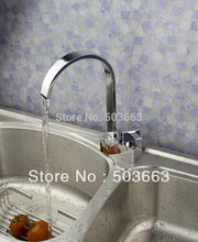 Wholesale New Design 1 Handle Surface Mount Kitchen Swivel Sink Faucet Brass Vanity Mixer Tap L-1055