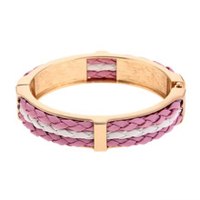 Four Seasons Hot Sell Genuine Leather Alloy Bracelet With Crystal Fashion Jewelry for Women and Men Best Gift