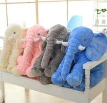1Pcs 60cm Cute Elephant Plush Toys Cute Dolls Soft Pillows Baby Sleeping Pillow doll Girl's birthday gift