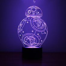 Creative Star Wars Lamp 3D Night Light Robot USB Led Table Desk Remote Contro as Home Decor Bedroom Reading Nightlight