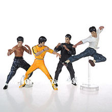 "10cm Hot-sale 4PCS Bruce Lee Kung fu Master PVC Action figures 4"" model Collectibles Toy pack with indivual box Best Quality!(China)"