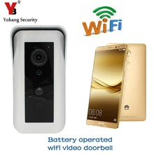 YobangSecurity Battery Operated Wifi Video Chuông Cửa Doorbell Battery Powered Không Dây Video Cửa Nhập Intercom Android IOS(China)