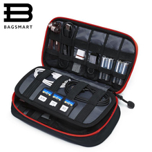 Bagsmart New Travel Bags Data Cable Practical Earphone Wire Storage Power Line Organizer Electric Bag Flash Disk Case Digital