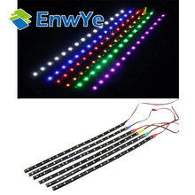 15pcs 15LED/30cm waterproof LED Strip 3528 12V DC SMD High Power Flexible LED Car Strips,white/blue/red/green/yellow(China)