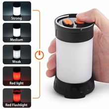 350Lumen LED Camping Lantern Flashlight, USB Rechargeable Tent LED Lamp, Waterproof Poratable Camping Light with 18650 Battery