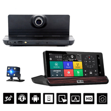 "Dashboard 7"" IPS 3G Wifi Car DVR Camera Android 5.0 GPS Navigation Video Recorder Bluetooth Dual Lens FHD1080P 1GB RAM Rear View"