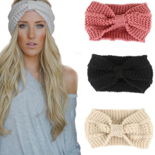 1 PC New Women Lady Crochet Bow Knot Turban Knitted Head Wrap Hairband Winter Ear Warmer Headband Hair Band Accessories Fashion