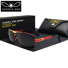 QUEENS KISS HD Polarized Men Sunglasses brand designer Retro Square Sun Glasses Accessories driving goggles oculos de sol shades