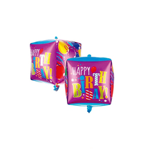 Square Balloon Clutches Flashlight Cube Air Balls Party Decorations Happy Birthday Children's Party Supplies Air Helium Balloon