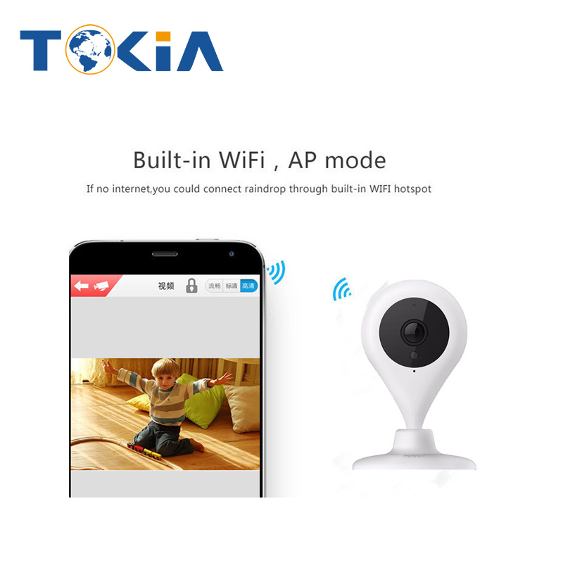 720P MINI Indoor Surveillance WiFi IP Camera TF Card Storage Night Vision Motion Detection Monitoring IP camera with wifi<br>