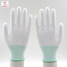10 pairs high quality nylon guantes de seguridad Non-slip Wearable anti-static protective gloves Breathable work gloves