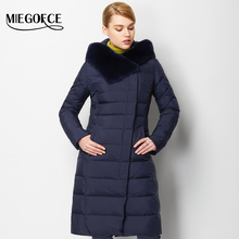 Woman Parka Winter Thick Coat with Rabbit Fur Winter Women Coat Jacket Warm High Quality MIEGOFCE 2016 New Winter Collection Hot(China)