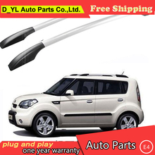 D_YL car styling for Kia Soul car roof rack aluminum alloy luggage rack punch Free 1.6 meters