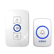 KERUI Wireless Doorbell Smart Receiver Home Gate Security Doorbell For Home Alarm System Security System 433MHz