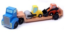 baby wooden toys big carrier vehicle truck good gifr for baby kids car toys Removable(China)