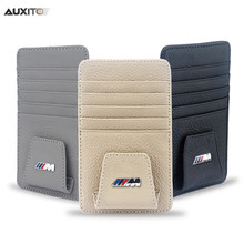 Car Styling Genuine Leather Cards Case For BMW E46 E39 E38 E90 E60 E36 F30 F30 E34 F10 F20 E92 E38 E91 E53 E70 X5 X3 X6 M M3 M5