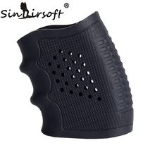 New! Tactical Pistol Rubber Grip Glove Cover Sleeve Anti Slip for Most of Glock Handguns Airsoft Hunting Accessories