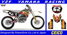 WR YZ YZF 125 250 400 450  Team Graphics Backgrounds Decals Stickers  Motor cross Motorcycle Dirt Bike MX Racing Parts YGR025