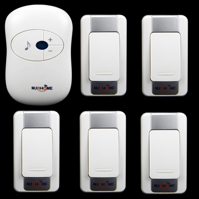 Waterproof Wireless Doorbell 280m working range 36 Ring tunes 5 transmitters+1 receiver High quolity Smart home LED Door Bell<br><br>Aliexpress