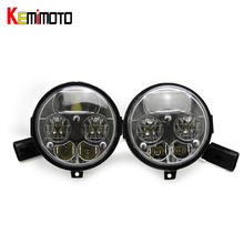 KEMiMOTO UTV LED Headlight Head Lamp for Kawasaki Brute Force 750 2012-2016 / Teryx4 2014-2015 / Teryx 4 750 EPS 2012-2015(China)