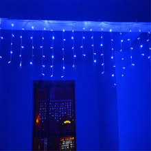 Kmashi 216 LED 5M Curtain Lights LED Icicle Lights Fairy Christmas Lamps Wedding Party Decoration String Lights Home Room AC220V