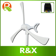 Horizontal wind generator price 300W. Combine with wind/solar hybrid controller(LED display). 3 years warranty.