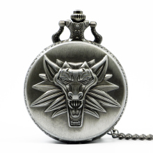 Hot Game Wild Hunt Quartz Pocket Watch Awesome Roaring Wolf Head Necklace Pendant Chain Christmas Gifts(China)