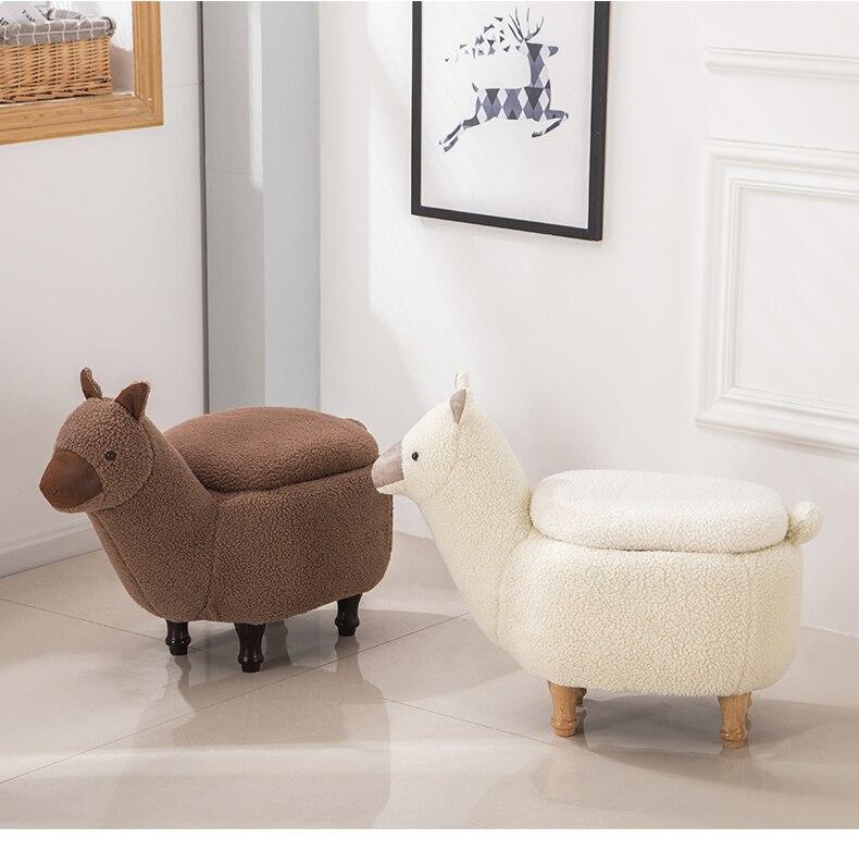Home Furniture Louis Fashion Stools Ottomans Cartoon Animal Sofa Alpaca Hall Storage Testing Shoes Modern Simple Shoes
