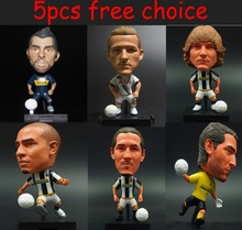 5pcs free choice KODOTO SoccerWe Movable Joints Edition football soccer moving player star display collection dolls toys(China)