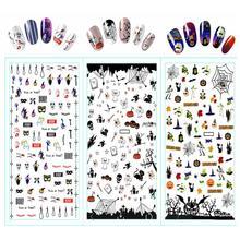 9sheets halloween design water decal nail sticker design nail art decals water transfer sticker tips