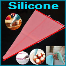 1pcs Reusable Icing Piping Cream Pastry Bag Silicone Kitchen Accessories Icing Piping Cream Pastry Bag Cake DIY Decorating Tool
