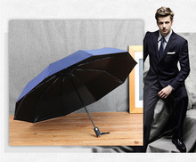 2017 HOT Automatic Umbrella High Guality Sun Protection Umbrella for women Sunny Business man Umbrella for Men(China)