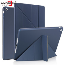 for Ipad air 1 case smart wake up sleep tpu back cover for apple ipad 5 Multi-folding pu leather flip stand soft with small gift(China)